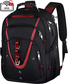 18.4 Inch Laptops Backpack, Extra Large Travel Laptop Backpack with USB Charger Port, TSA Friendly Flight Approved and RFID Anti-Theft Pocket, Water Resistant Suiltable for Large Gaming Laptop