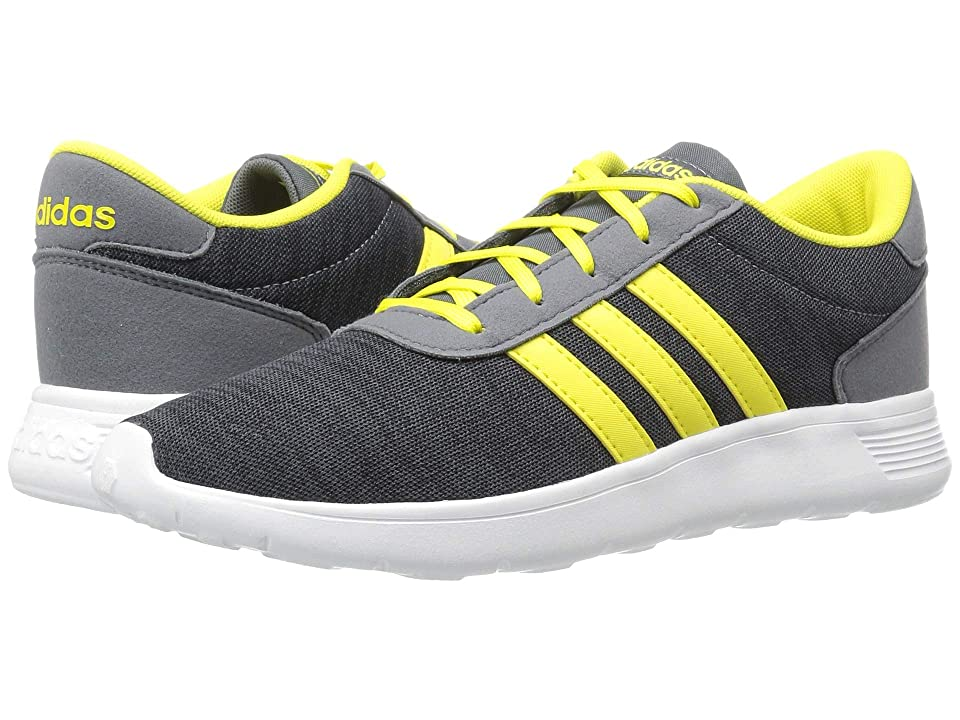 adidas Kids Lite Racer (Little Kid/Big Kid) (Carbon/Shock Yellow/Onix) Kids Shoes