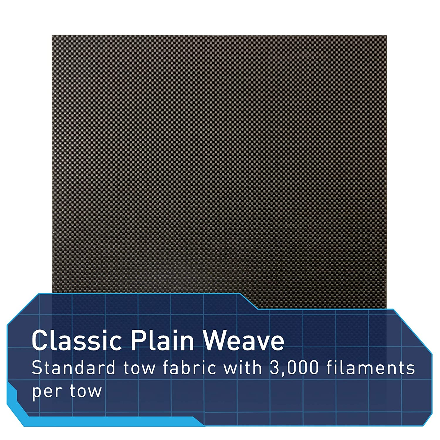 Perfect for Custom Projects 12 x 12 x 1//4 Elevated Materials Carbon Fiber Sheet Heavy Duty Flat Panel Sheeting with Plain Woven Pattern
