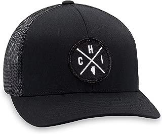 CHI Hat – Chicago Trucker Hat Baseball Cap Snapback Golf Hat (Black)