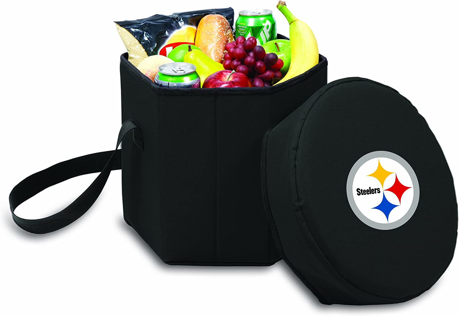 NFL Pittsburgh Steelers Bongo Insulated Collapsible Cooler, Black