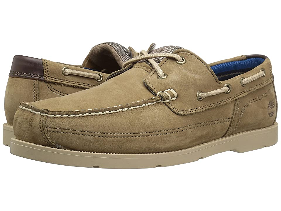 Timberland Piper Cove Leather Boat Shoe (Light Brown Nubuck) Men