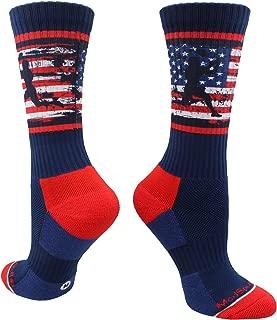 USA Football Socks with American Flag and Player Crew Length