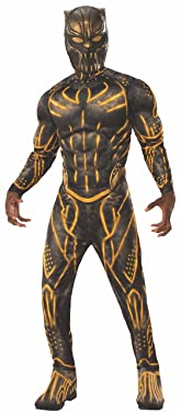 Rubie's Men's Deluxe Erik Killmonger Battle Suit Muscle Chest