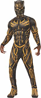 Men's Deluxe Erik Killmonger Battle Suit Muscle Chest