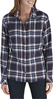 Women's Long-Sleeve Plaid Flannel Shirt