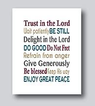 Psalm 37 4 Wall Art, Psalm 27 4-6 Decor, Bible Verse Wall Art, 8x10 or 11x14 Print Only, Scripture Wall Art, Spiritual Gifts for Women