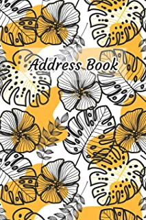 Address Book: Leaf and Flower Outline Design - Keep Your Important Contacts in The One Organizer Name, Addresses, Email, P...