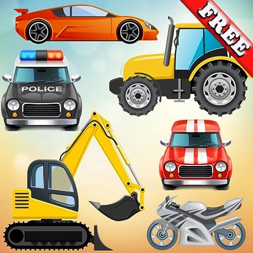 Vehículos y coches para bebés y niños: jugar con camiones, tractores y...