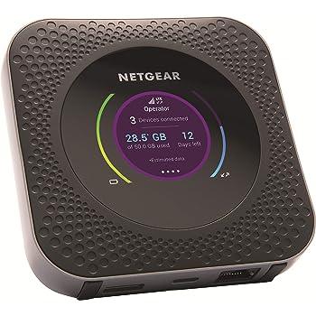 NETGEAR Routeur mobile 4G, Nighthawk M1 Routeur 4G LTE MR1100 - débit descendant jusqu'à 1Gbps | Connexion WiFi jusqu'à 20 appareils | Crée un WLAN n'importe où | Déverrouillé compatible toute SIM