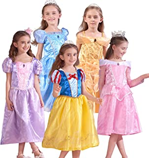 Girls Princess Dress up Costume, Little Kids Pretend Play Set Gift for Birthday Theme Party
