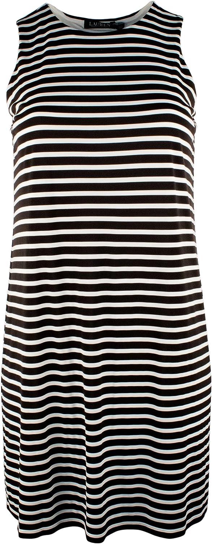 Ralph Lauren Lauren Women's Plus Size Stripe Jersey ALine Dress