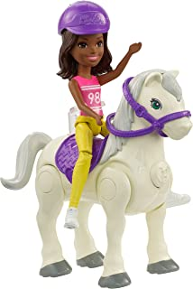 Barbie On The Go Horse & Doll, Pink & Yellow Outfit