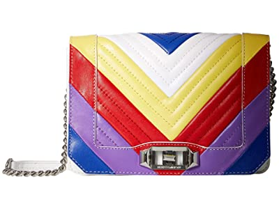 Rebecca Minkoff Chevron Quilted Small Love Crossbody (Rainbow) Cross Body Handbags