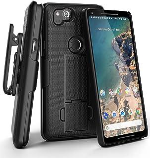 Encased Google Pixel 2 XL Belt Clip Case, (DuraClip) Slim Fit Holster Shell Combo (Rubberized/Non Slip) Smooth Black