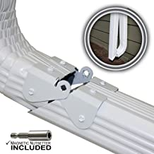 Zip Hinge Plus 2 Pack | 1-6 Packs of Gutter Extension Hinges w/Clasp + Magnetic Nutsetter | DIY Installation on Any Size Rectangle or Square Downspout