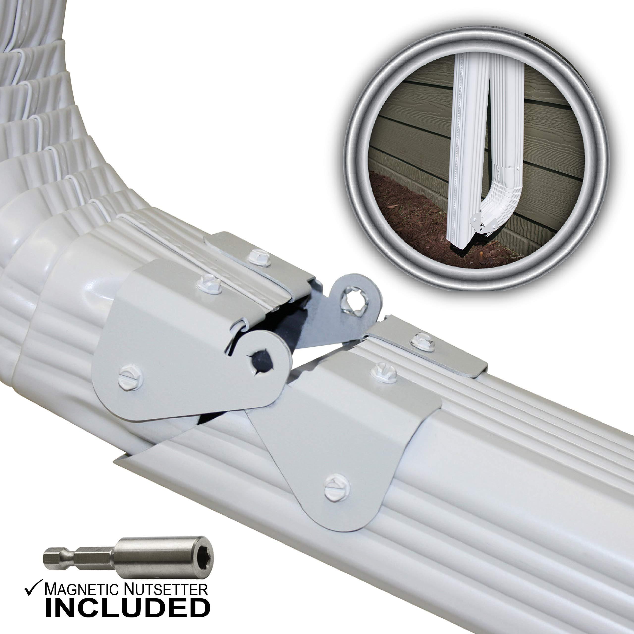 Zip Hinge Downspout Extension Solution