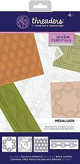 Threaders Pochoirs pour matelassage - Médaillon - 33,4 x 16,5 x 0,3 cm