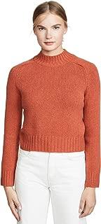 Women's Cashmere Shrunken Mock Neck Sweater