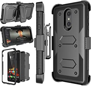 LG Stylo 4 Case, LG Q Stylus Holster Clip, Njjex [Nbeck] Shockproof Heavy Duty Built-in Screen Protector Rugged Locking Swivel Belt Clip Kickstand Hard Phone Cover for LG Styus 4/Stylo 4 Plus Black