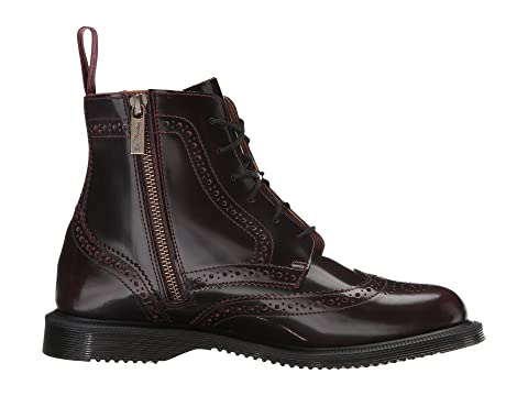 Martens Red Polished Boot Dr 6 Arcadia Black Eye Brogue SmoothCherry Delphine FxzOqWdxUH