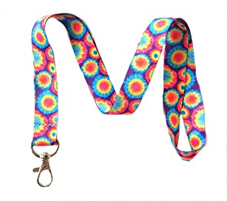 Tie Dye Print Lanyard Key Chain Id Badge Holder