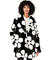 McQ - Abstract Faux-Fur Coat