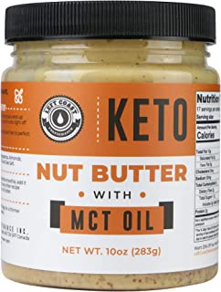 Keto Nut Butter Fat Bomb [Crunchy] - 10 Oz - Macadamia Low Carb Nut Butter Blend (1 net carb), Keto Almond Butter with MCT...