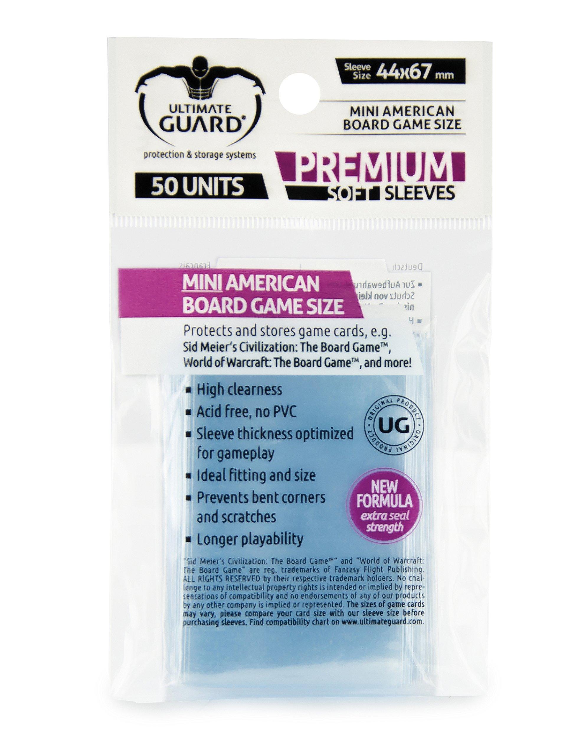 Ultimate Guard 10280 Premium Sleeves Fundas de Cartas del Juego de Mesa Mini American (50): Amazon.es: Juguetes y juegos