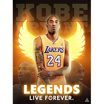 Amazon Com Kobe Bryant And Gigi Poster Picture Canvas Wall Art Bedroom Basketball Player Sports Painting Print No Frame 24x36inch Posters Prints