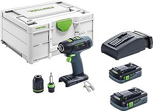 Festool  574756  - Taladro atornillador de batería, T 18+3 Li 5.2-Plus