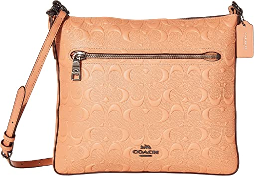 코치 크로스백 COACH Signature Gazette Crossbody,Pink