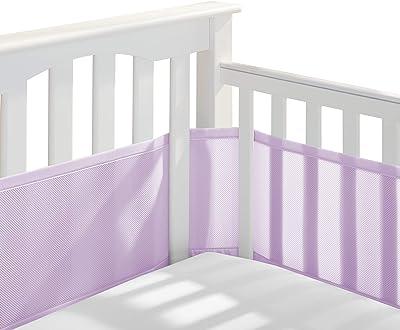 BreathableBaby Classic Breathable Mesh Crib Liner - Lavender, Standard