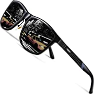 ATTCL Men's Driving Polarized Sunglasses Al-Mg Metal Frame Ultra Light