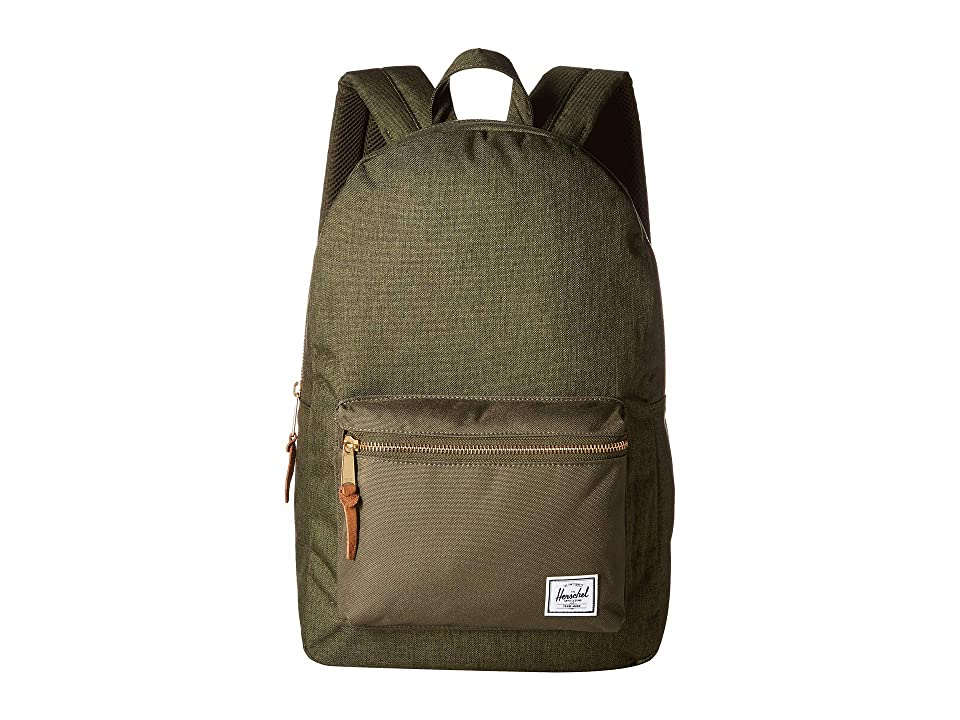 Herschel Supply Co. Settlement (Olive Night Crosshatch/Olive Night) Backpack Bags