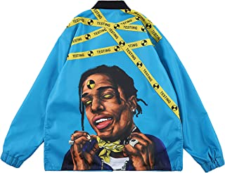 ASAP Rocky Testing Long Sleeve Hip Hop Graphic Windbreaker