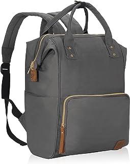 Veegul Wide Open Multipurpose School Backpack Lightweight Travel Bag 18L Gray