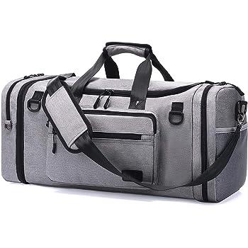 NUBILY Sac de Sport Homme Sacs Voyage Femme avec Compartiment /à Chaussures Grande Capacit/é Imperm/éables Travel Duffel Weekend Fitness Bag 40L