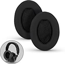 Brainwavz Ear Pads For ATH M50X, M50XBT, M40X, M30X, HyperX, SHURE, Turtle Beach, AKG, ATH, Philips, JBL, Fostex Replacement Memory Foam Earpads & Fits Many Headphones (see list), Black Oval