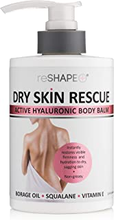 Dry Skin Balm w/Hyaluronic Acid for Body, Hands, Face, Feet – Moisturizing, Hydrating Cream for Dry Skin Patches - Cruelty...
