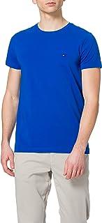Tommy Hilfiger Men's Stretch Slim FIT TEE Sport Shirt, Blue (Chambray Blue CDN), X-Small (Size:XS)