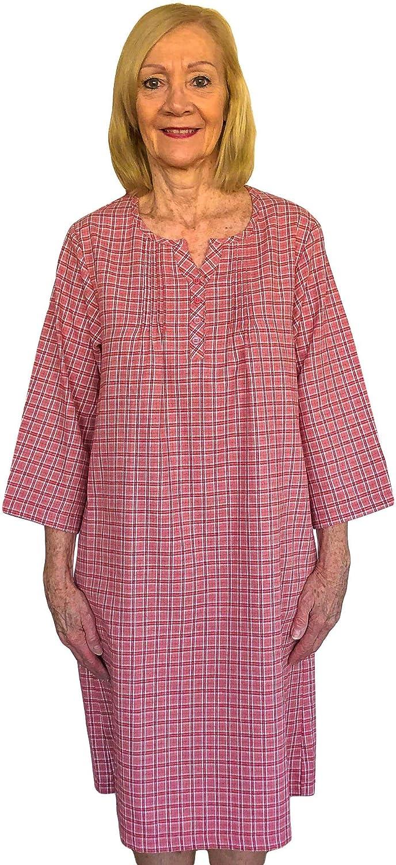 Ovidis Elderly Disabled お見舞い Women 毎週更新 Adaptive Open Back Hospital Gown -