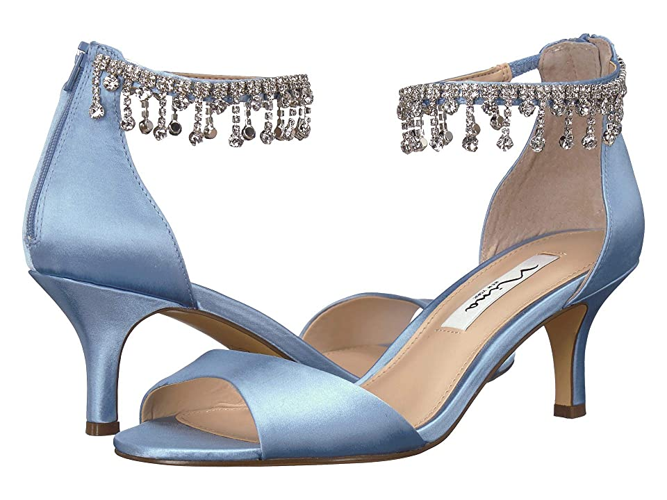 Nina Chianne (Light Blue Satin) High Heels