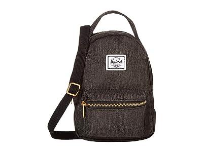 Herschel Supply Co. Nova Crossbody (Black Crosshatch) Handbags