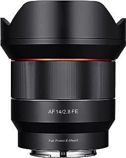 Samyang SYIO14AF-E 14mm F2.8 Full Frame Auto Focus Lens for Sony E-Mount, Black