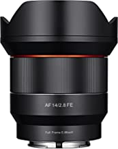 Samyang SYIO14AF-E 14mm F2.8 Full Frame Auto Focus Lens for Sony E-Mount, Black