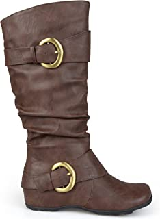 Brinley Co Women's Hilton Slouch Boot, Brown, 10 M US