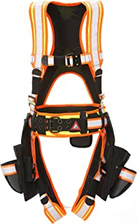 Large Super Anchor Safety 6151-PL Deluxe Full Body Harness plus All-Pakka Tool Bag Combo Pink