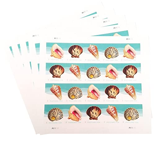 USPS Seashells Postcard Stamps (5 Sheets of 20 Stamps)