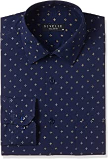 Diverse Men's Printed Regular fit Formal Shirt